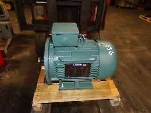 NEW LEESON 5.5 HP AC IEC ELECTRIC MOTOR DF112MD FRAME 230/460 VAC 1755 RPM