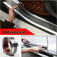 5*100CM Car Sticker Carbon Fiber Rubber Edge Guard Strip Door Sill Protector DIY