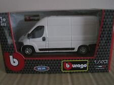 BURAGO FIAT DUCATO PANEL VAN in WHITE 1:43 MODEL CAR FIAT OFFICIAL PRODUCT