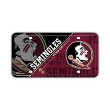 """Metal Vanity License Plate Tag Cover - Florida State Seminoles - 12"""" x 6"""""""