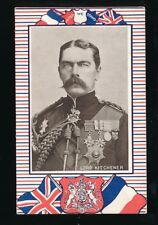 Military WW1 LORD KITCHENER United We Stand patriotic flags PPC