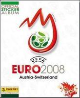 STICKERS IMAGE PANINI FOOT EURO 2008 - LOGO / VILLE / STADE - 1 a 45 - a choisir