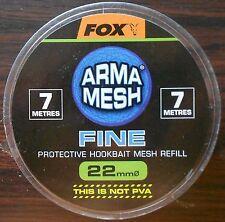 FOX ARMA MESH FINE 22mm PROTECTIVE HOOKBAIT MESH REFILL CPV026 NOT PVA 7 METRES