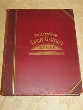 Antique Book Of Philips' New Handy General Atlas Of The World -1897
