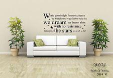 Oasis Little by Little Lyrics Wall Sticker Wall Art Decals