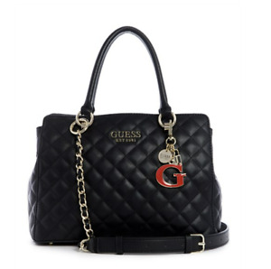 GUESS MELISE LUXURY SHOPPER BAG TOTE BAG WOMENS HANDBAGS BLACK - RRP $199
