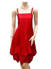 Robe T 40 / 42 L 3 / 4 Bouillonnée froissée Droite rouge Tunique Fête Dress été