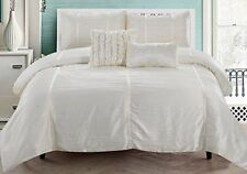 RT Designers Collection Kingsley 5 Piece Crushed Sateen Comforter Set King Ivory