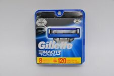 Gillette Mach3 Turbo 91429231 Mens Razor Blades  Pack of 8 Refills USA Made Pack