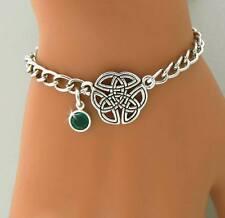 "Trinity 2 Birthstone Charm Bracelet Personalized ""Wings of an Angel"""