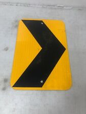 Small Authentic Retired Texas Curve Arrow Reflective Highway Sign