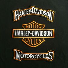HARLEY DAVIDSON ROCKERS ORANGE LARGE BIKER PATCH  VEST/JACKET NEW LSM SET OF 3 !