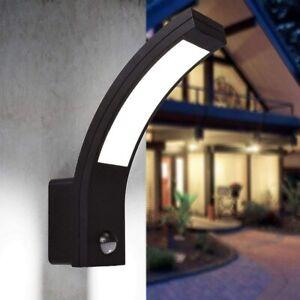 CGC Outdoor Garden Wall Light Porch Patio Motion Sensor PIR LED Security Black