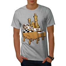 Wellcoda Play Chess With Me Mens T-shirt, Game Graphic Design Printed Tee