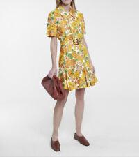 Zimmermann Poppy Floral Linen Mini Dress Size 1