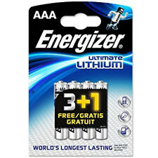 24 x AAA ENERGIZER Ultimate Lithium Batteries 6 x 4 packs