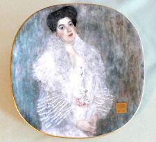 Porzellanteller Gustav Klimt, Lilienporzellan, 'Portrait Hermine Gallia', neuw.