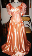 Southern Belle Gown with the Wind Long Glossy Liquid Satin Formal Gown Dress 36
