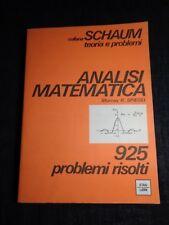 ANALISI MATEMATICA 925 PROBLEMI RISOLTI MURRAY R. SPIEGEL COLLANA SCHAUM ETAS
