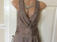 Phase Eight Taupe  Rockabilly Dress Size 10 IMMAC Hols 25/8 To 4/9