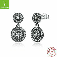 Authentic 925 Sterling Silver Radiant Elegance Clear CZ Earrings Women 290688CZ