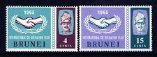 BRUNEI 1965 Complete International Co-operation Year Set SG 134 & SG 135 MINT