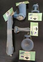 Stock Gedy Oscar Set 5 accessori da bagno resina blu biadesivo viti