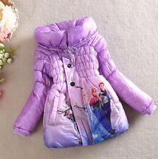 Giacca Bambina Piumino Viola - Girl Purple Winter Jacket - Frozen - A 00190 V