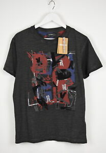 DESIGUAL TS-FIRDEN Small Abstract Prints & Embroidery Worn Look T-Shirt 10816 mm