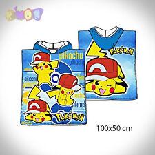 9124 poncho algodon Pokemon 100x50cm