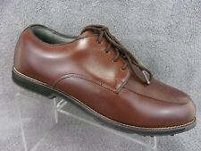 Tour Collection mens brown leather lace up soft spike golf shoes size Us12