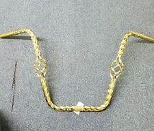 """NEW GOLD TWISTED BIRDCAGE BICYCLE  HANDLE BARS 16"""" DYNO STYLE,CRUISER,LOWRIDER"""