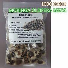 1000 Organic Natural MORINGA OLEIFERA Seed Herb Many Benefits Health Hair Skin