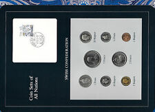 Coin Sets of All Nations Switzerland w/card 1981-1983 UNC 1/2,1,5 Franc 1982
