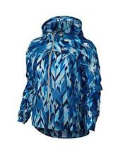 NIKE Impossibly Light Running Jacket 831177 429 Blue Geo Hood NEW SMALL~$100