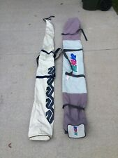 Two vintage K2 Snow Skis Bag Carrying Case