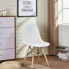 White Eames inspired Eiffel Retro DSW DSR Plastic Dining Office Lounge Chair