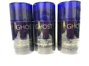 Lot of 3 Ghost by Scannon 2.75 oz/75 ml Deodorant Stick for Men, Sealed, Rare!