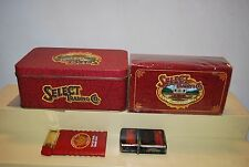 Winston Select Cigarettes 2 Lighters + 1 Box Matches & Tin Can Vintage 1990's