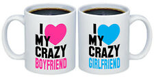 I Love my Crazy Girlfriend - Boyfriend Valentines Gifts for Couples Coffee Mugs