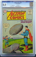 ACTION COMICS #217 CGC 8.0 Superman 1956 Super-Baby c & 2nd Highest Graded copy