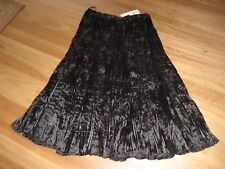 LADIES CUTE BLACK LINED PLEATED POLYESTER SKIRT BY TRES BELLE SIZE XXL 16/18 NWT
