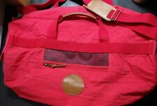 Marlboro Country Vintage Red Large Tube Duffle  Bag  Used Leather Patch