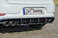 Racing Heckansatz Diffusor aus ABS für VW Golf 7 R Facelift Eintragungsfrei