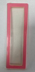 """Barbie A-Frame Dream House Replacement Part Pink Window 5 1/2""""x 1 11/16"""""""