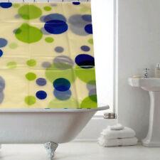 Cortinas de baño color principal azul de plástico