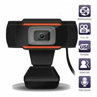 USB Webcam Auto Focusing Web Camera 1080P HD Cam Microphone For for PC/Laptop US