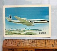 VINTAGE 1960s BOAC COMET JET AIRLINER AEROPLANE AUSTRALIAN TRADING CARD EXC!!