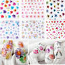 Lots 50 Sheets Nail Art Transfer Stickers Flower 3D Decals Manicure Decor Tips