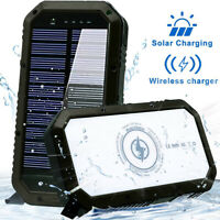 Solar Power Bank 20000mAh - Wireless Solar portable Charger - Waterproof outdoor